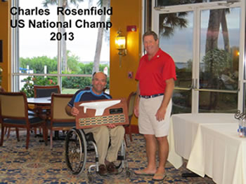 2013 Top US Sailor at the US Nationals Charlie Rosenfield with regatta chairman Martin Holland